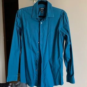 A dark turquoise Apt. 9 dress shirt